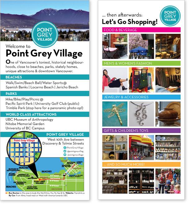 Point Grey Village Rack Card